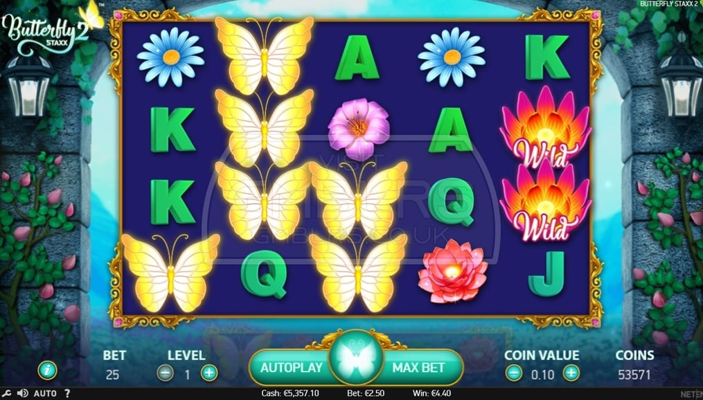 Butterfly Staxx 2 Gameplay Casino