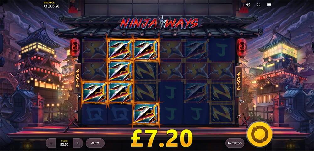 Ninja Ways Slot Reels Win