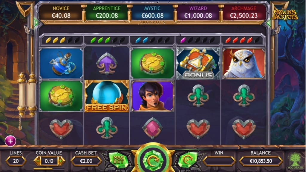 Ozwin's Jackpots gameplay 2