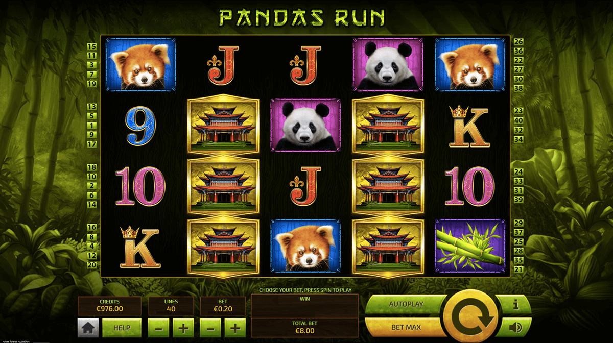 Panda Run gameplay casino