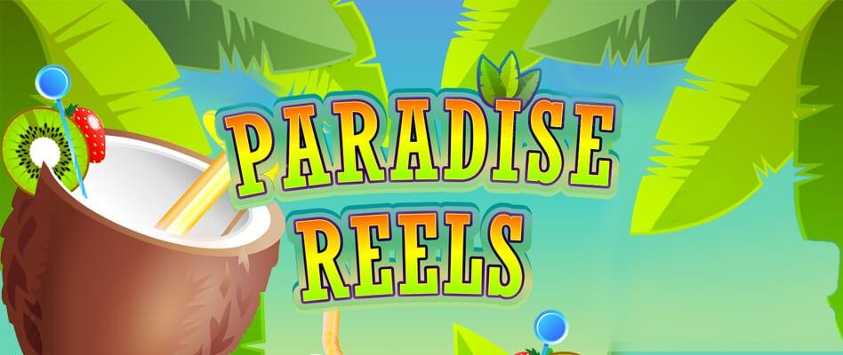 Paradise Reels online slots game logo