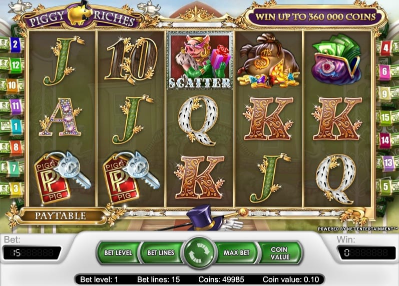 Piggy Riches online slots game gameplay