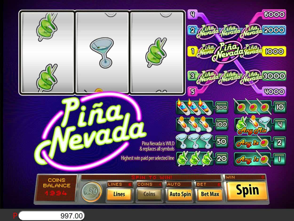 Pina Nevada Slot UK