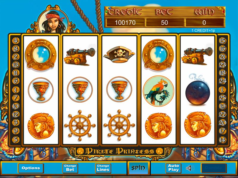 pirate princess Slots Game