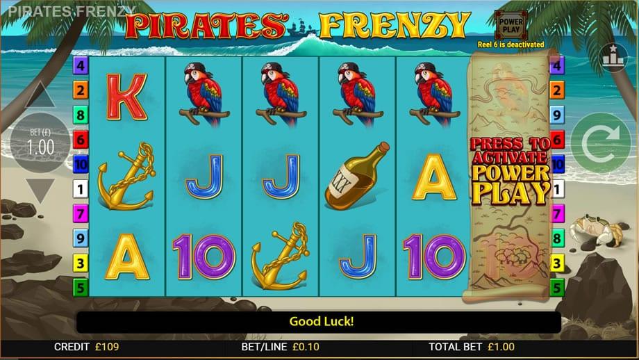 pirates frenzy gameplay wizard slots