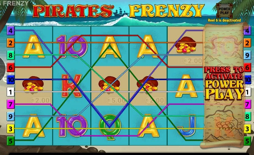 pirates frenzy slot machine win