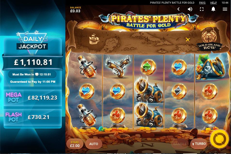 Pirates Plenty Battle for Gold slot gameplay