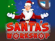 Santa's Workshop online slots game logo