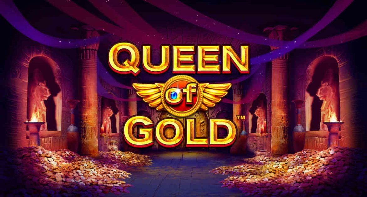 queen of gold slots game logo