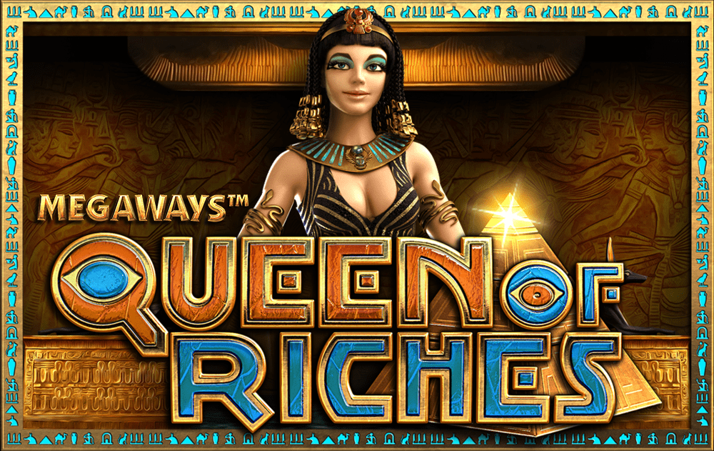 queen of riches slots game logo