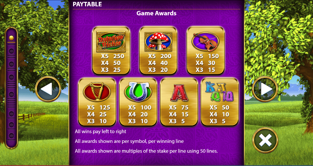 Rainbow Riches Symbols