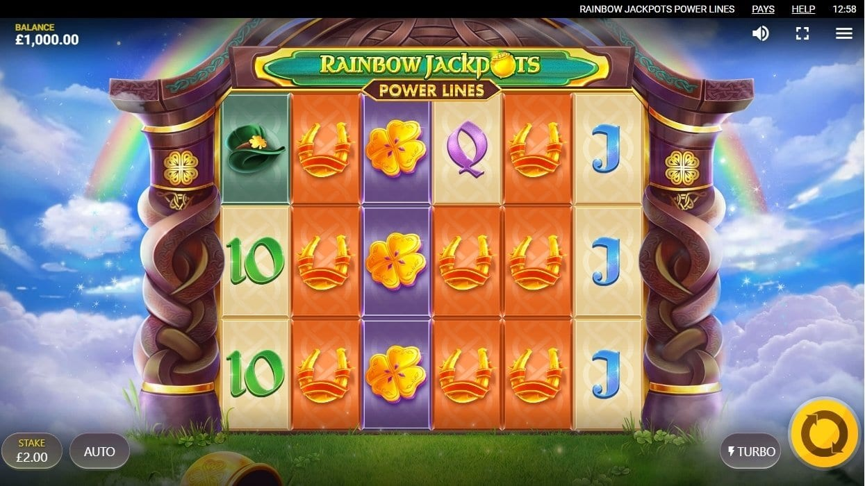 Rainbow Jackpots Power Lines Slot Game