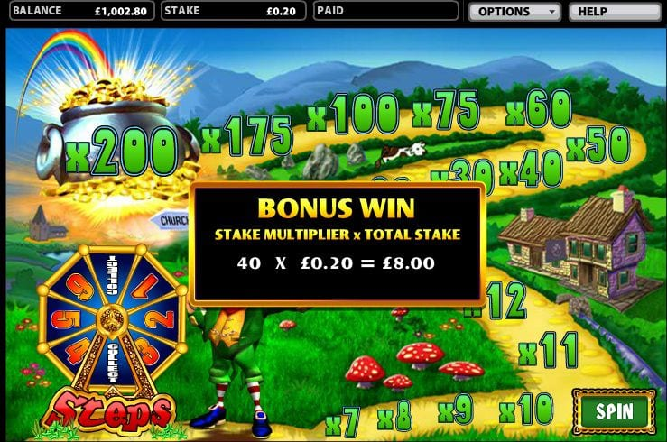 Rainbow Riches Multiplier bonus