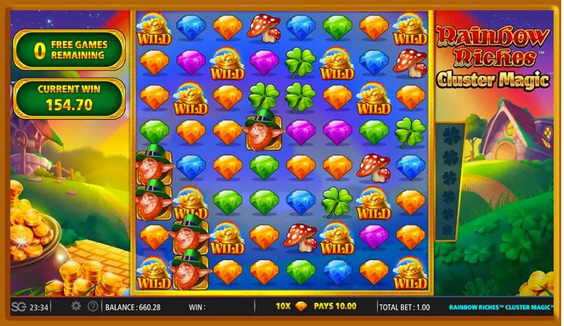 Rainbow Riches Cluster Magic Slot Game
