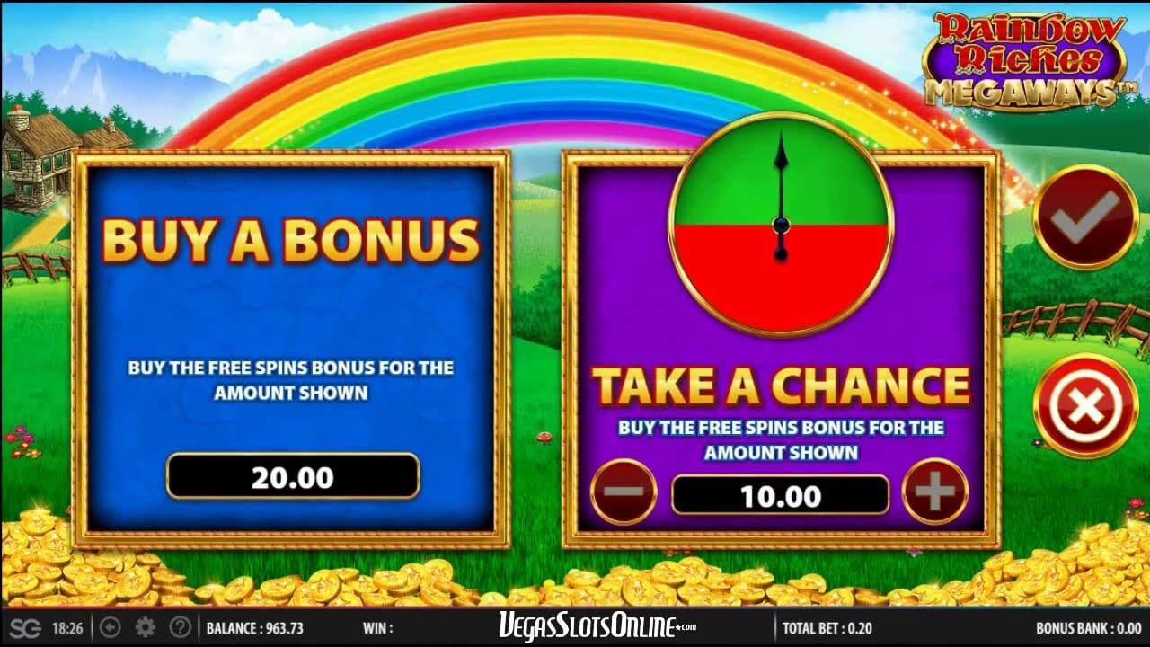 rainbow riches megaways slot game play