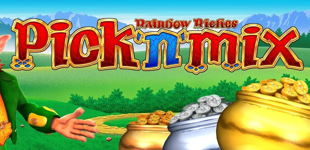 rainbow riches pick n mix slots game logo