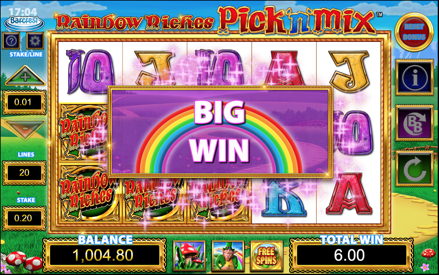 rainbow riches pick n mix game Slots