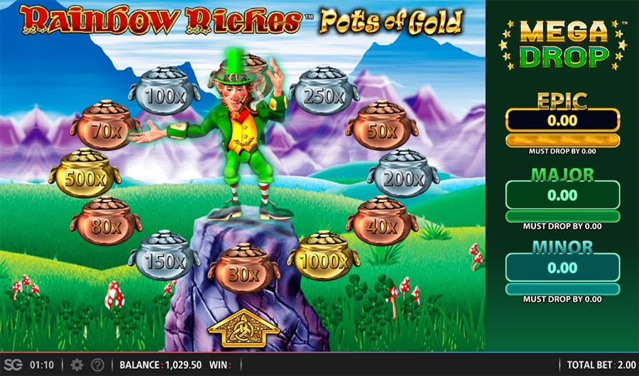 Rainbow Riches Pots of Gold Free Slots