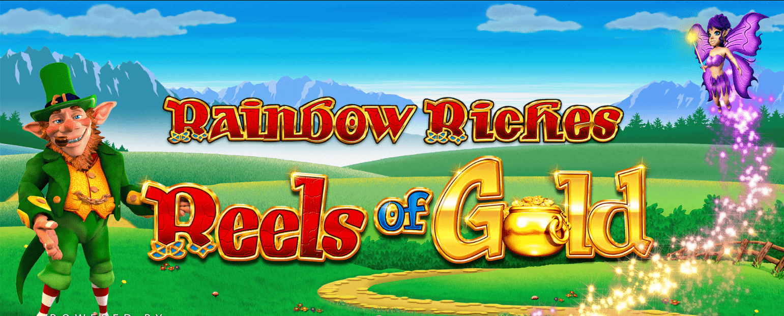 rainbow riches reels of gold slots game logo