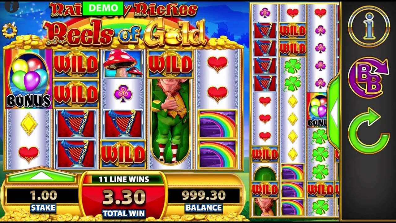 rainbow riches reels of gold gameplay