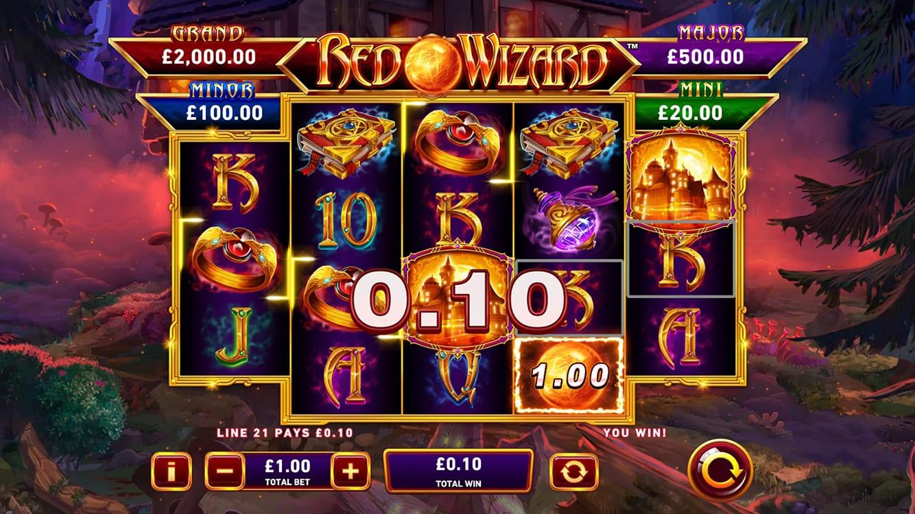 Red Wizard Fire Blaze Slot Gameplay