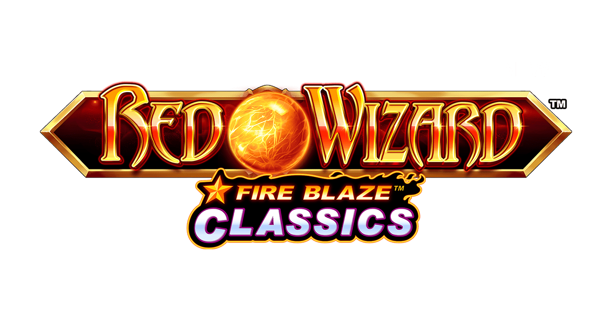 Red Wizard Fire Blaze Slot Logo Wizard Slots