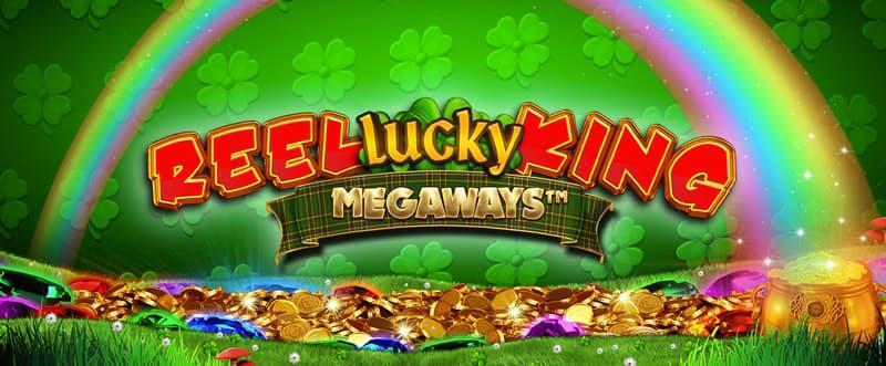 Reel Lucky King Megaways Slot Logo Wizard Slots