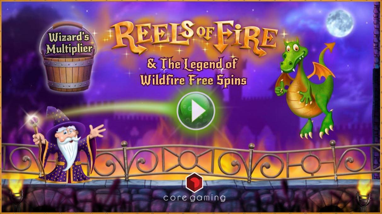 Reels of Fire slots game logo