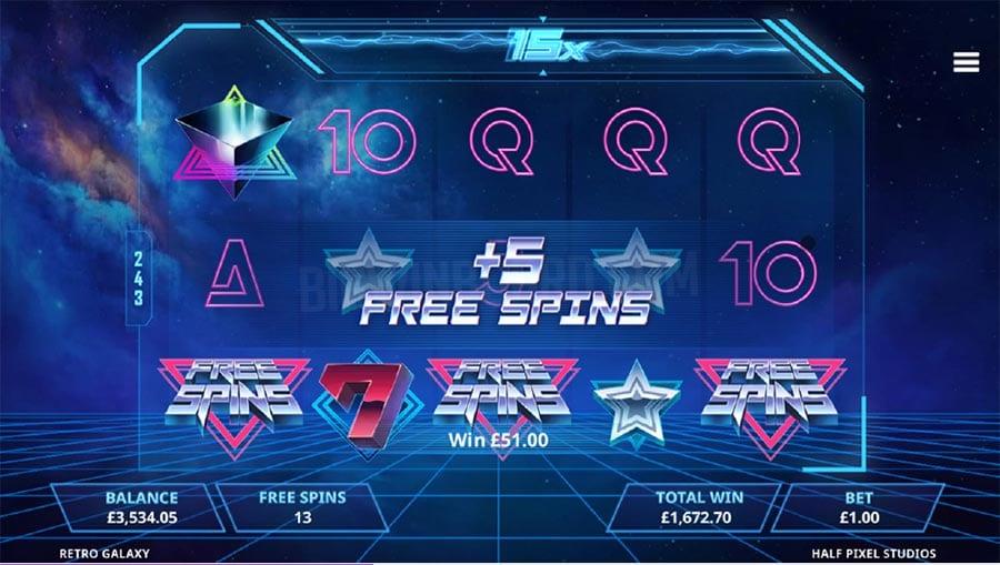 Retro Galaxy Free Slots