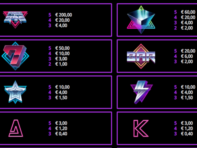 Retro Galaxy Slot Symbols