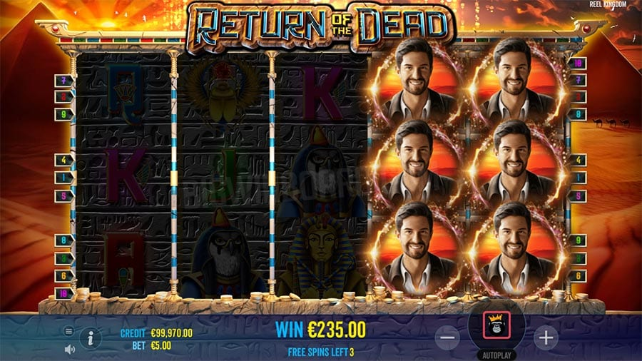 Return of the Dead Slots Reels