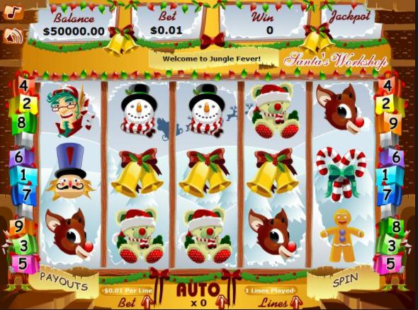 Santas Workshop game screen