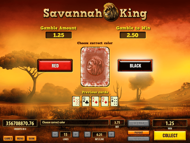 savannah king bonus feature