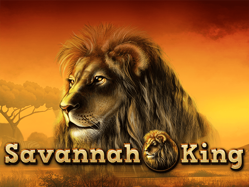savannah king slots game logo