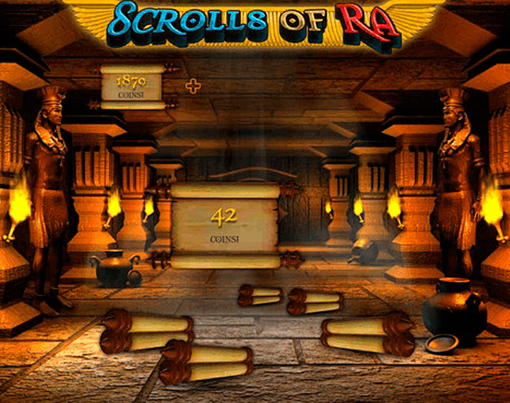 Scrolls of RA Free Spin slots games