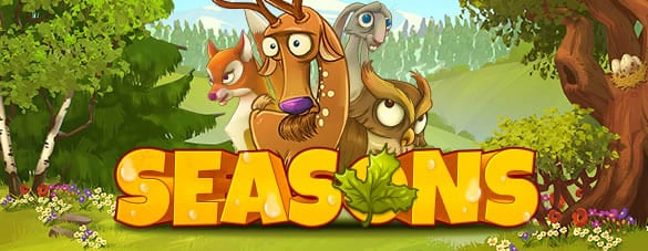 Seasons online slots game logo