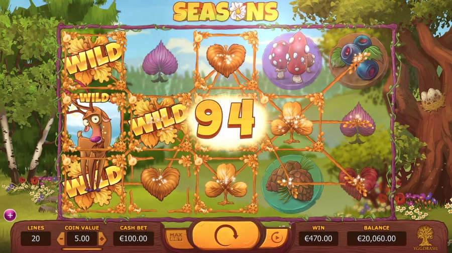 Seasons online slots game win lines