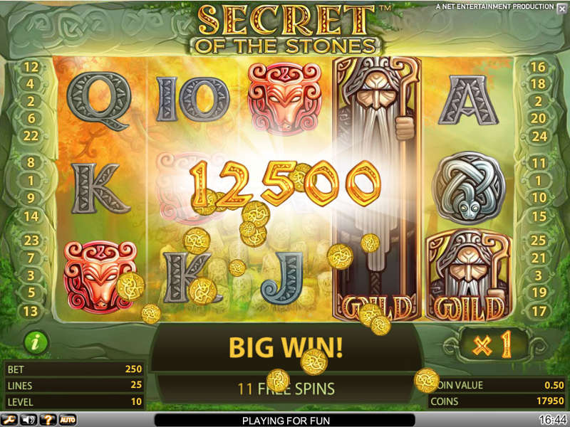 Secret of the Stones online slots game win lines