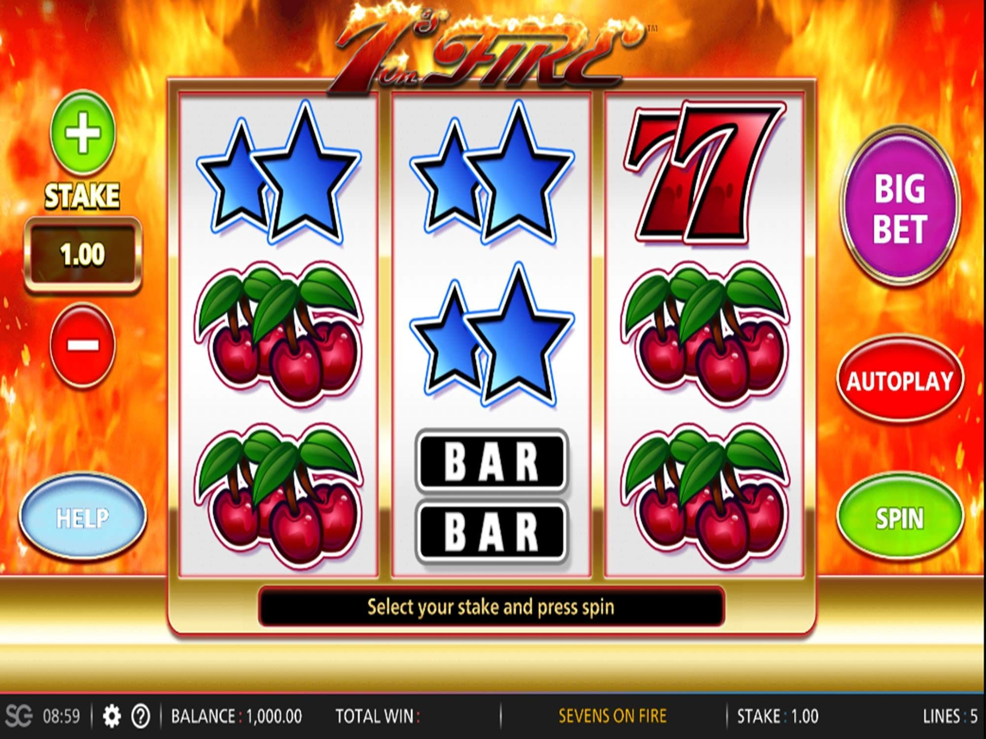 7s Of Fire Slots Game