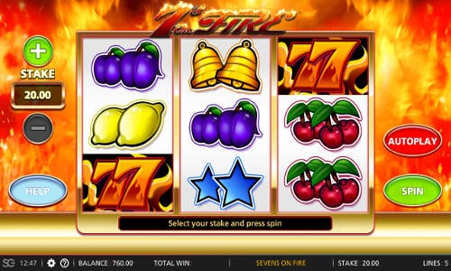 7s Of Fire Slot Machine