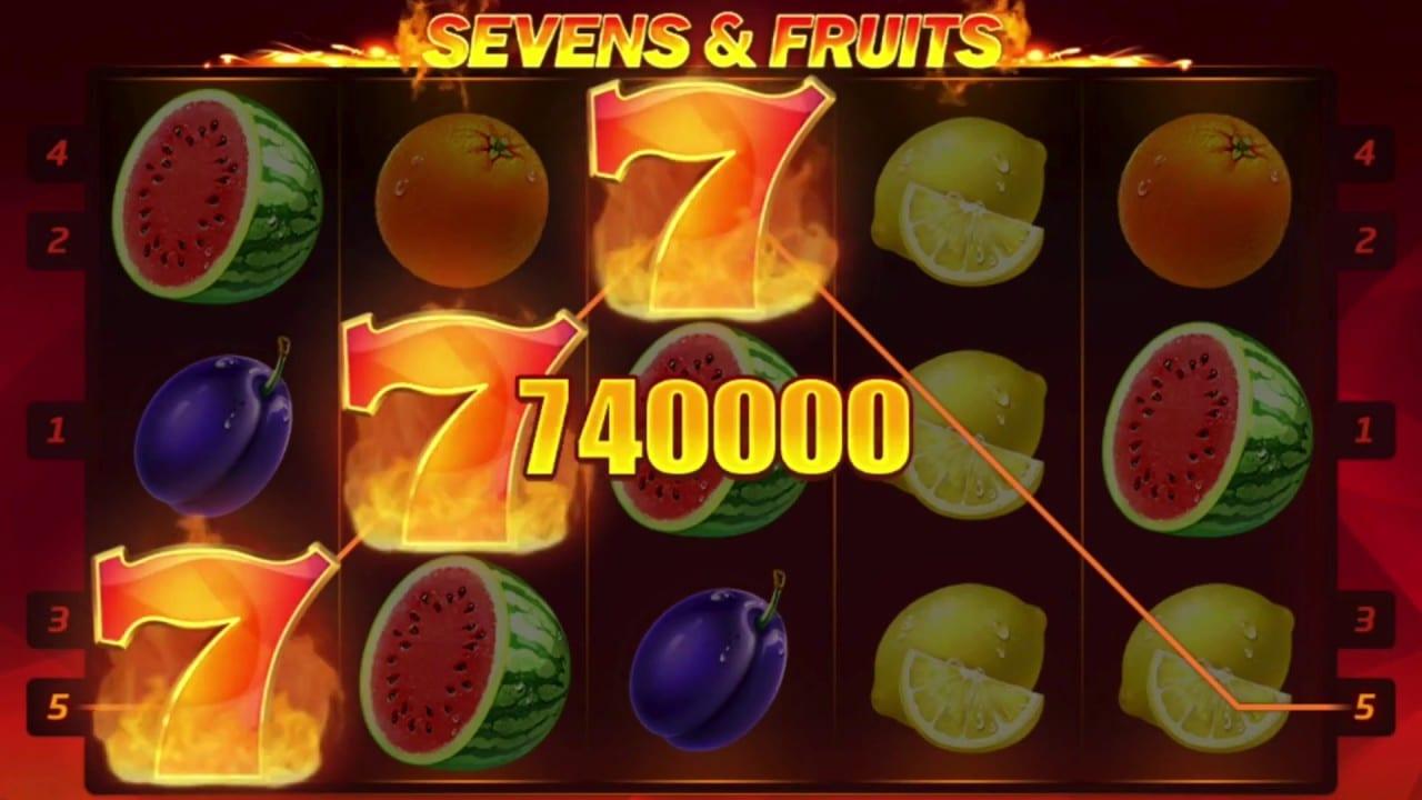 Sevens & Fruits: 20 Lines Slots