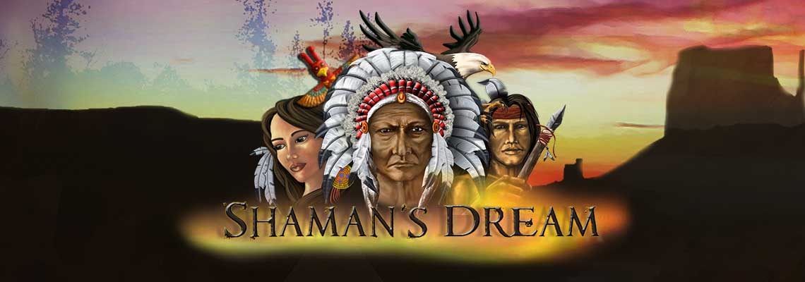 Shamans Dream online slots game logo
