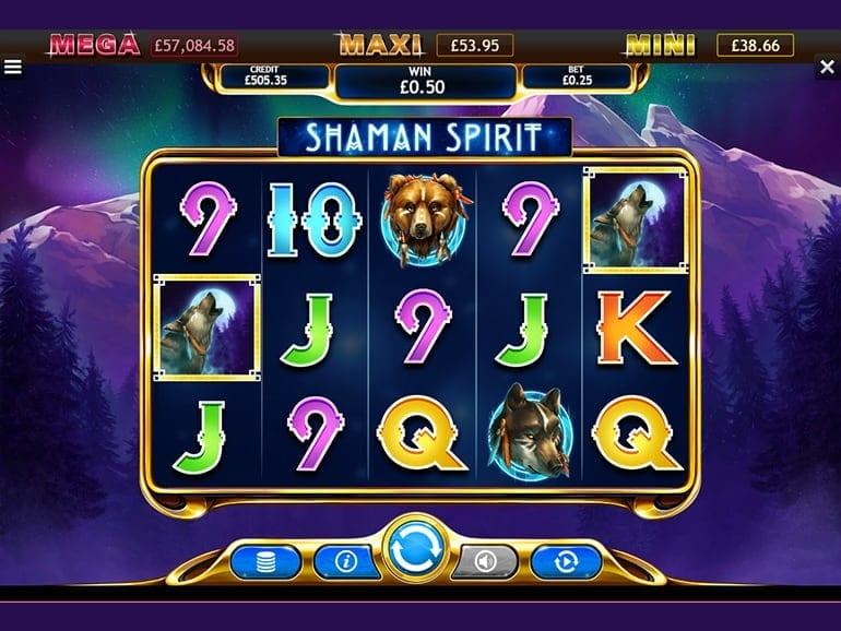 Shaman Spirit Jackpot Slot Game