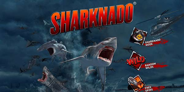 Sharknado only slots game logo