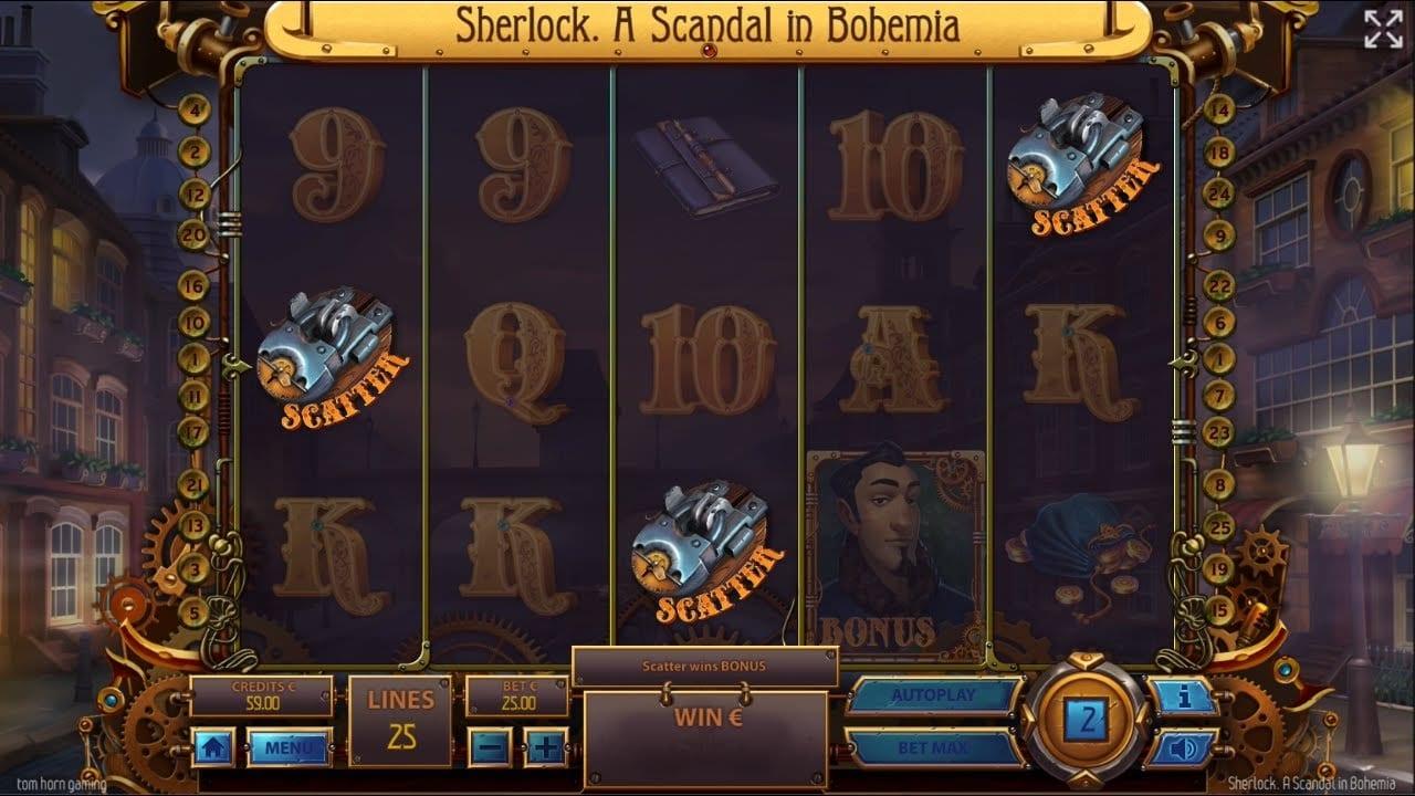 Sherlock: A Scandal in Bohemia Slots