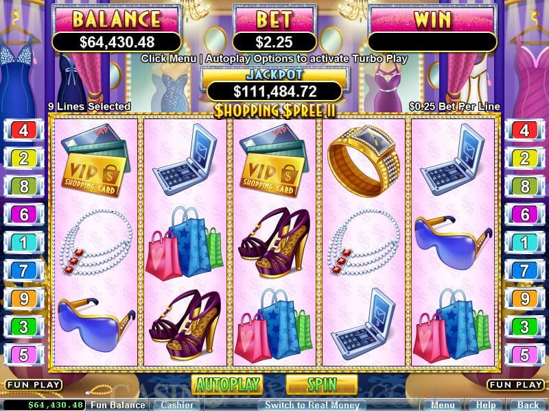 Shopping Spree Jackpot gameplay