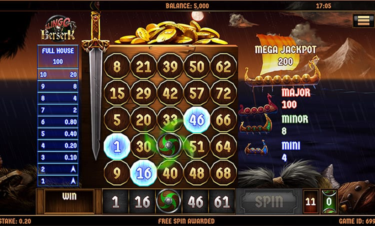 Slingo Berserk Slot Gameplay