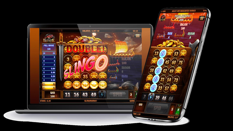 Slingo Berserk Slot Logo Wizard Slots
