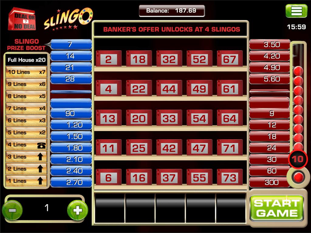 Slingo Deal or No Deal Slot Gameplay