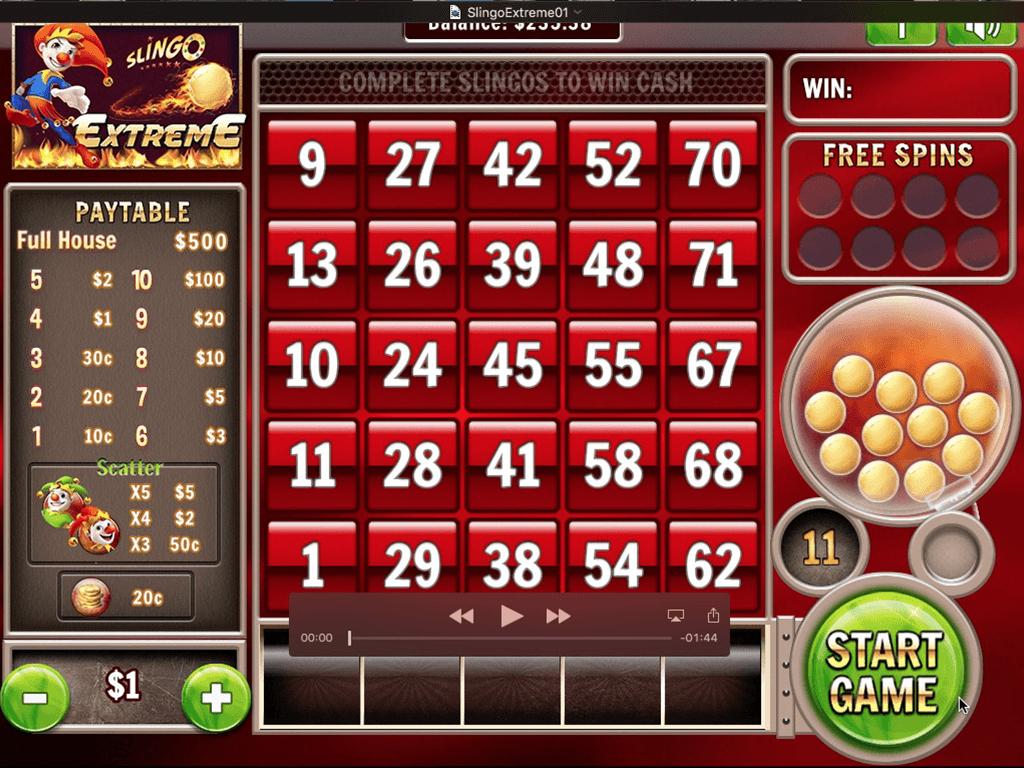 Slingo Extreme Slot Game